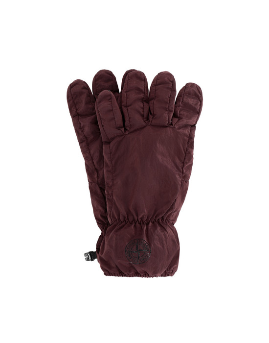 STONE ISLAND 92069 NYLON METAL Gloves Man Dark Burgundy