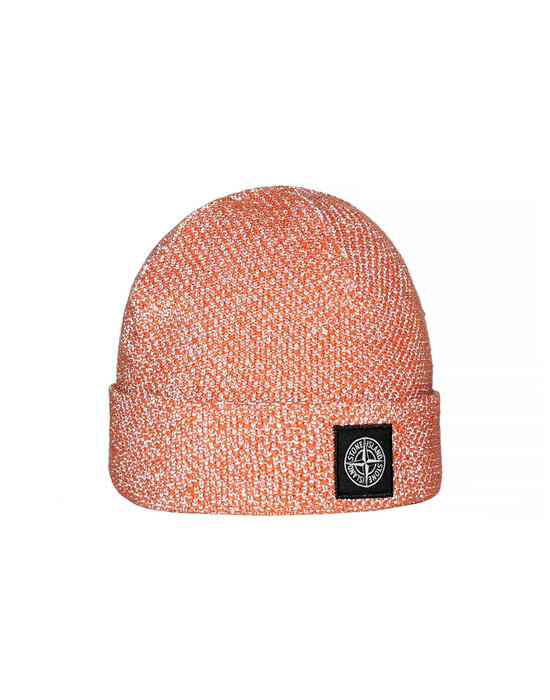 STONE ISLAND N16C6 REFLECTIVE BEANIE  Hat Man Orange