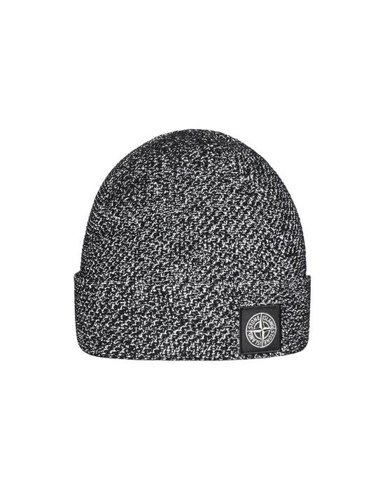 STONE ISLAND N16C6 REFLECTIVE BEANIE  Hat Man Black
