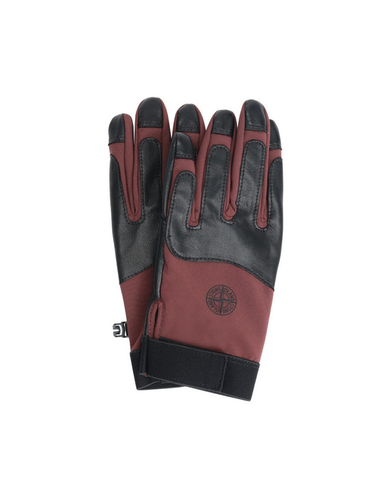 STONE ISLAND 92174 SOFT SHELL-R Gloves Man Dark Burgundy