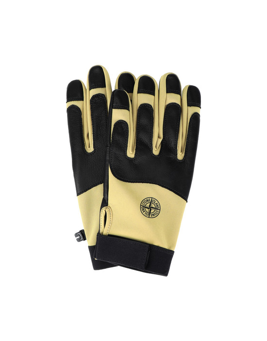 STONE ISLAND 92174 SOFT SHELL-R Gloves Man Mustard