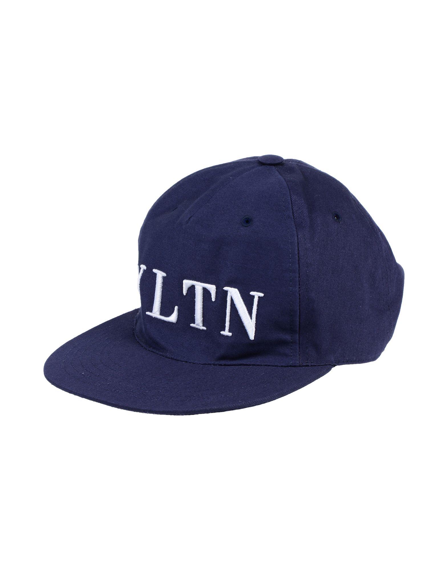 《セール開催中》VALENTINO GARAVANI メンズ 帽子 ダークブルー 58 コットン 100% / ポリエステル / 牛革(カーフ)