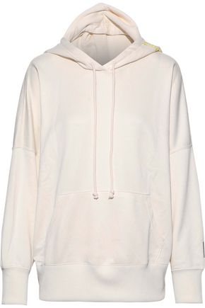 ADIDAS ORIGINALS Embroidered French cotton-blend terry hoodie