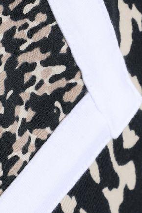 ADIDAS ORIGINALS Printed stretch-cotton jersey mini dress