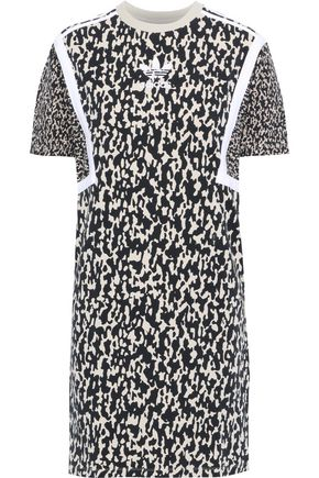 ADIDAS ORIGINALS Printed stretch-cotton jersey mini dress