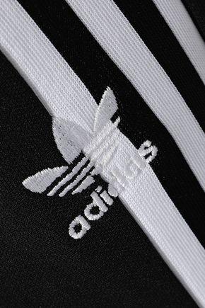 ADIDAS ORIGINALS Striped stretch-knit track pants