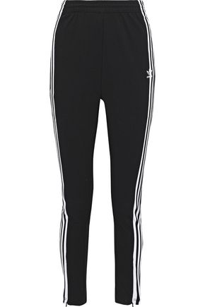 ADIDAS ORIGINALS Striped stretch-knit track pants