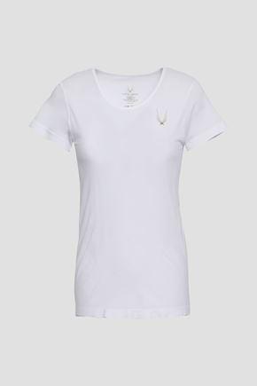 LUCAS HUGH Printed tech-jersey T-shirt