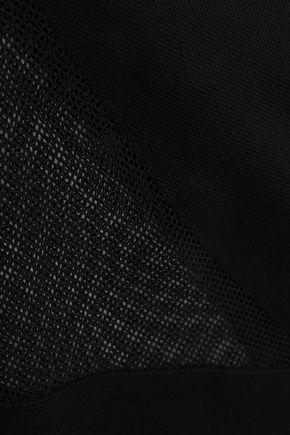 LUCAS HUGH Mesh-paneled stretch modal and cotton-blend T-shirt
