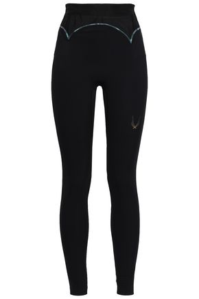 LUCAS HUGH Quantum mesh-paneled stretch leggings