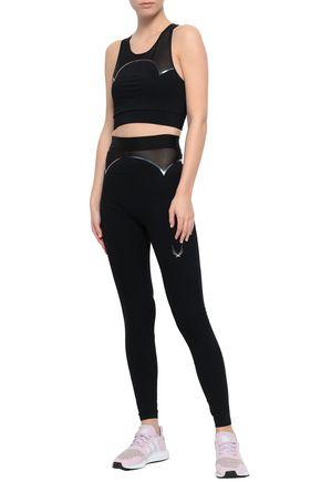 LUCAS HUGH Quantum mesh-paneled stretch leggings