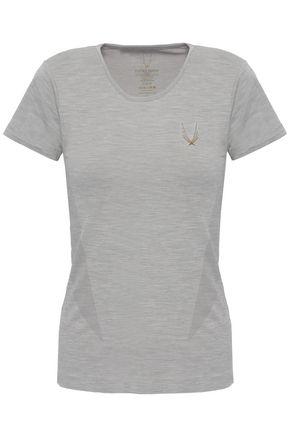 LUCAS HUGH Mélange tech-jersey T-shirt