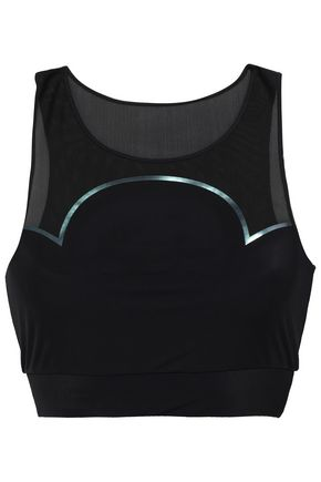 LUCAS HUGH Quantum mesh-paneled stretch sports bra