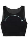 LUCAS HUGH Quantum mesh-paneled stretch sports bra