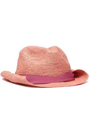 SENSI STUDIO Grosgrain-trimmed toquilla straw Panama hat