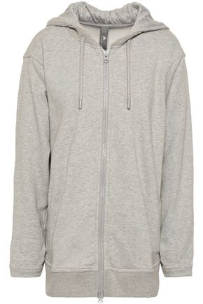 ADIDAS by STELLA McCARTNEY French cotton-blend terry hooded sweatshirt