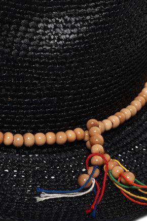 SENSI STUDIO Bead-embellished toquilla straw Panama hat