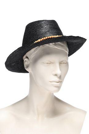 3c7aceea SENSI STUDIO Bead-embellished toquilla straw Panama hat