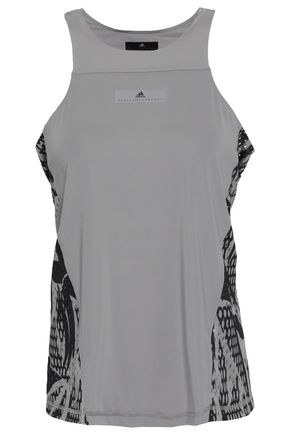 ADIDAS BY STELLA MCCARTNEY | Adidas By Stella Mccartney Perforated Printed Stretch Tank | Goxip