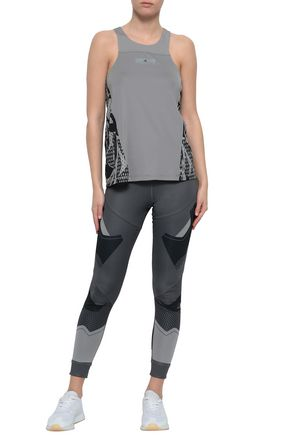 ADIDAS by STELLA McCARTNEY Perforated printed stretch tank