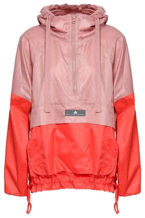 ADIDAS by STELLA McCARTNEY Two-tone shell hooded jacket