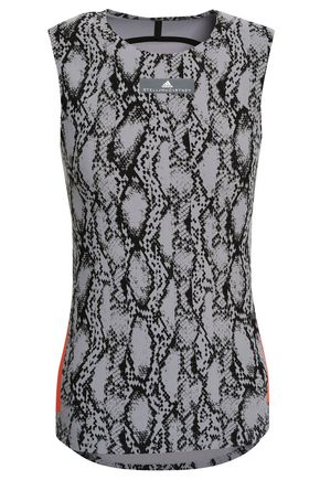 ADIDAS by STELLA McCARTNEY Snake-print stretch tank