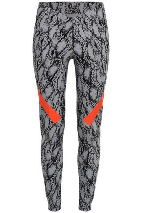 ADIDAS by STELLA McCARTNEY Snake-print stretch leggings