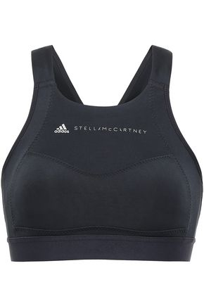 ADIDAS by STELLA McCARTNEY Tech-jersey piqué sports bra
