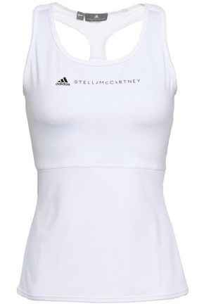 ADIDAS BY STELLA MCCARTNEY | Adidas By Stella Mccartney Mesh-Trimmed Stretch Tank | Goxip