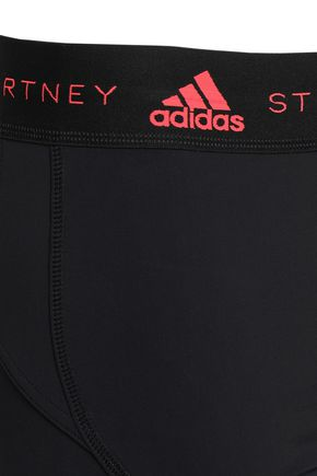 ADIDAS by STELLA McCARTNEY Cropped mesh-paneled stretch leggings