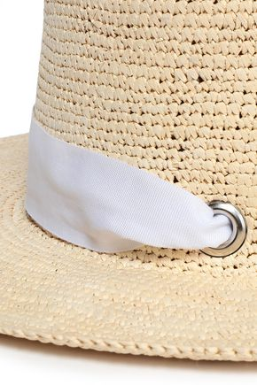 SENSI STUDIO Grosgrain-trimmed toquilla straw sunhat