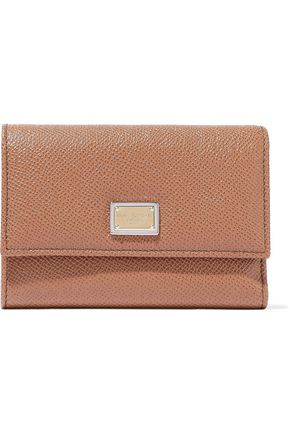 DOLCE & GABBANA Pebbled-leather continental wallet