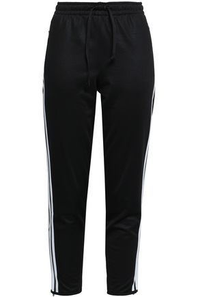 ADIDAS Striped tech-jersey track pants