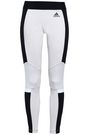 ADIDAS Two-tone stretch-cotton jersey leggings