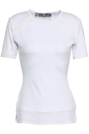ADIDAS BY STELLA MCCARTNEY | Adidas By Stella Mccartney Mesh-Paneled Stretch T-Shirt | Goxip