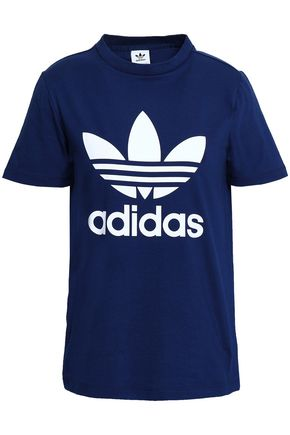 ADIDAS ORIGINALS Printed stretch-cotton jersey T-shirt