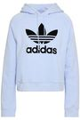 ADIDAS ORIGINALS Flocked French cotton-terry hoodie
