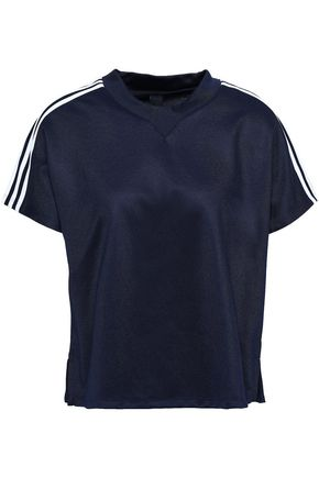 ADIDAS AtTEEtude striped fleece T-shirt