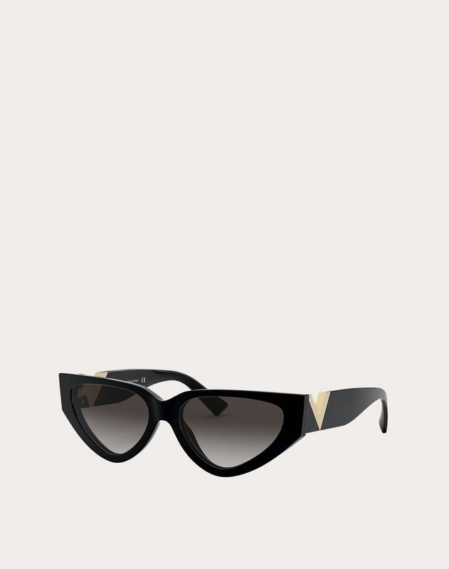 ACETATE CAT-EYE SUNGLASSES WITH VLOGO