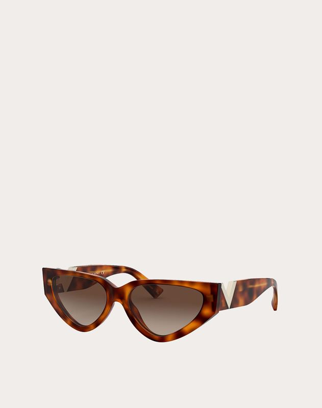 OCCHIALE DA SOLE CAT-EYE IN ACETATO CON VLOGO