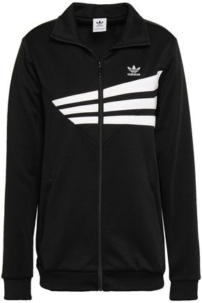 ADIDAS ORIGINALS Embroidered striped jersey jacket