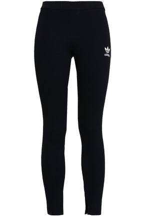 ADIDAS ORIGINALS Embroidered stretch-jersey leggings