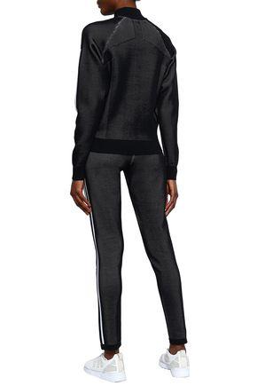 ADIDAS Striped mesh track pants