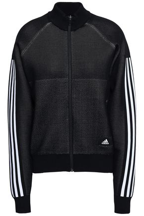 ADIDAS Striped mesh jacket