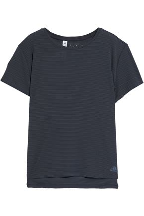ADIDAS Striped stretch T-shirt