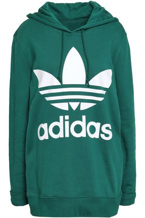 ADIDAS ORIGINALS Oversized printed French cotton-terry hoodie