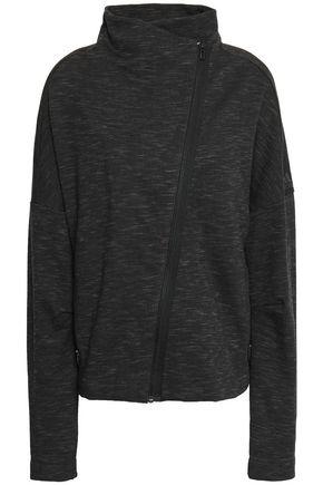 ADIDAS Mélange cotton-blend jersey track jacket