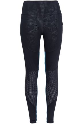 ADIDAS Paneled printed stretch leggings