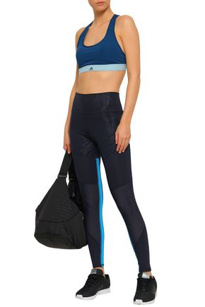 ADIDAS ORIGINALS Paneled printed stretch leggings