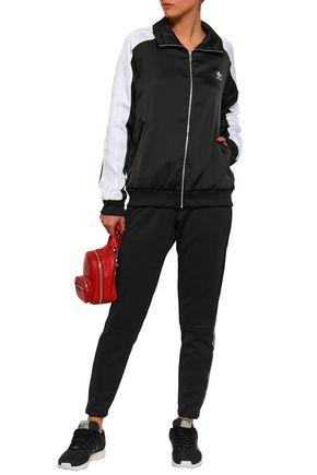 ADIDAS ORIGINALS Paneled sateen track jacket